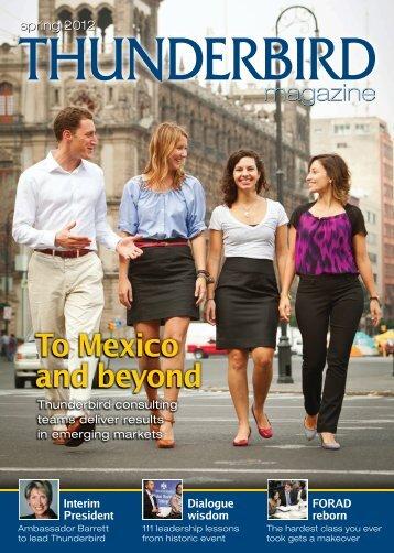 Spring - Thunderbird Magazine - Thunderbird School of Global ...