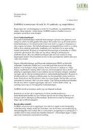 SABIMAs kommentarer til meld. St. 9 Landbruks- og matpolitikken