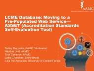 Accreditation Standards Self-Evaluation Tool - AAMC's member profile