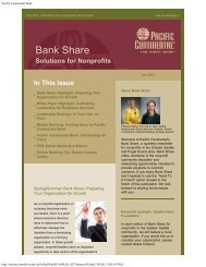 July 2012 - Pacific Continental Bank