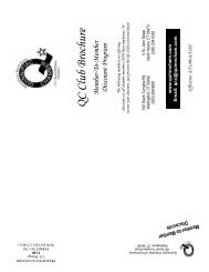 QC Club Brochure - The Quinnipiac Chamber of Commerce