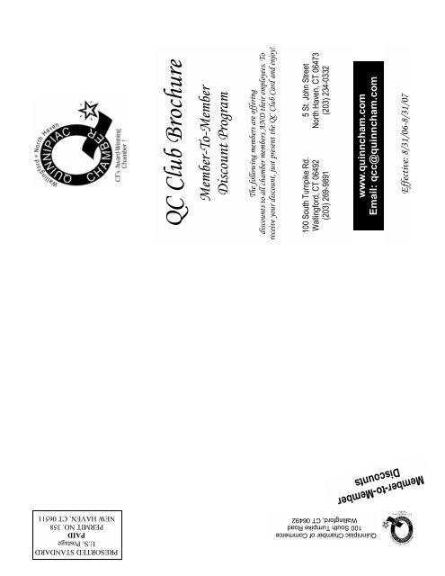 QC Club Brochure - The Quinnipiac Chamber of Commerce