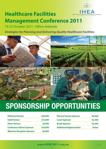 Sponsorship Opportunities Brochure PDF