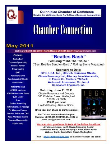 May 2011 Newsletter - The Quinnipiac Chamber of Commerce