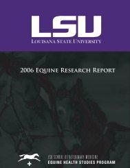 2006 EHSP Research Report.indd - School of Veterinary Medicine ...