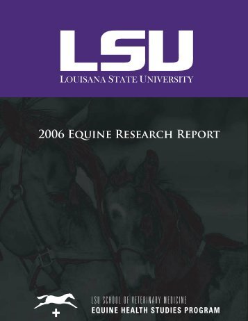 2006 EHSP Research Report.indd - School of Veterinary Medicine ...