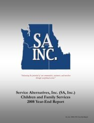 CFS End of Year Report 2009 - Service Alternatives, Inc.