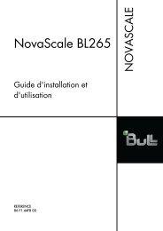 NovaScale BL265 Guide d'installation et d'utilisation - Bull