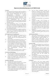 Allgemeine Einkaufsbedingungen der IST METZ GmbH