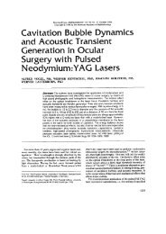 Cavitation Bubble Dynamics and Acoustic Transient Generation in ...