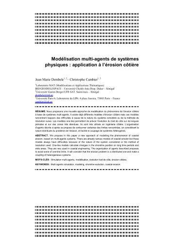 Modélisation multi-agents de systèmes physiques : application à l ...