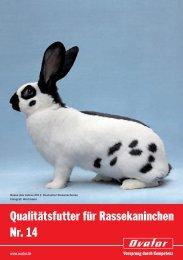 Qualitätsfutter für Rassekaninchen Nr. 14 - Muskator-Werke GmbH
