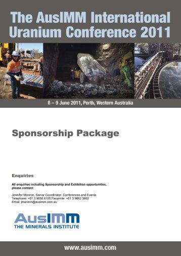 Sponsorship Package - Australasian Institute of Mining and Metallurgy