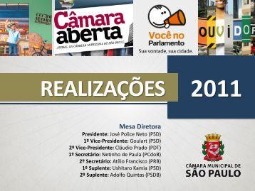 Realizações da Mesa Diretora - Governo do Estado de São Paulo