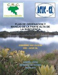 Cuenca Río Palacé - Corporación Autónoma Regional del Cauca