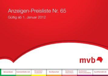 Mediadaten 2012 - MVB