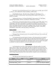 Board Regular Session 6/15/12 - Stokes County Schools