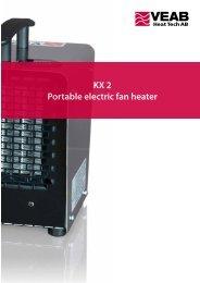 KX 2 Portable electric fan heater - VEAB Heat Tech AB