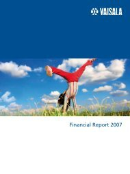 Financial Statements 2007 - Vaisala