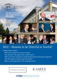 9th Annual IPF Property Investment Conference in Scotland