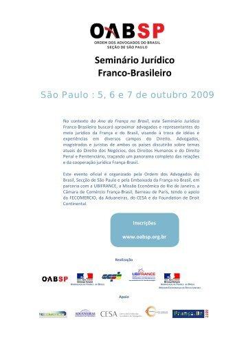 Seminário Jurídico Franco-Brasileiro - Cesa