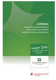 Leitfaden für gesundheitsfördernde Bewegung ... - Land Steiermark