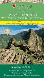 Treasures of Peru - University of Maryland