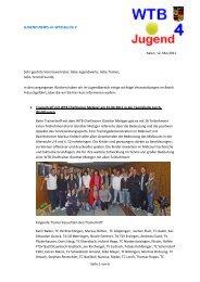 Infos Jugend 05/2011 - WTB