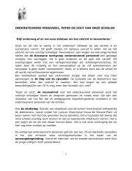 ONDERSTEUNEND PERSONEEL, PEPER EN ZOUT ... - DPB Brugge