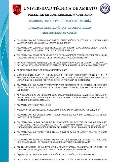 Carrera De Contabilidad Y Auditorãa 2011 Facultad De