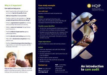 An introduction to care audit (published October 2012, pdf) - HQIP