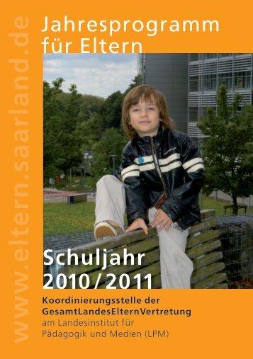 www .eltern.saarland.de Schuljahr