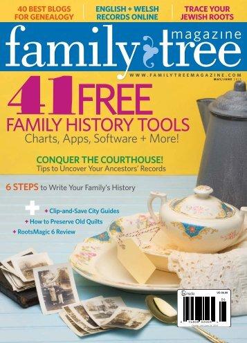 May/June 2013 Family Tree Magazine - F+W Media