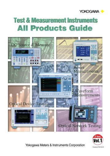 Catalog YMI120-E Test & Measurement Instruments All ... - Yokogawa