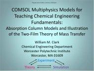 COMSOL Multiphysics Models for Teaching ... - COMSOL.com