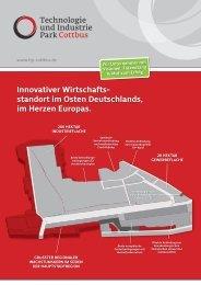 Innovativer Wirtschafts- standort im Osten Deutschlands, im Herzen ...