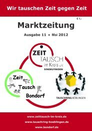 Marktzeitung Ausgabe 11 - Zeittausch im Kreis Sindelfingen