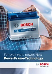 For even more power: New PowerFrame-Technology - Bosch