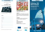 Architektour frankfurt - Bundesarbeitskreis Altbauerneuerung eV Berlin