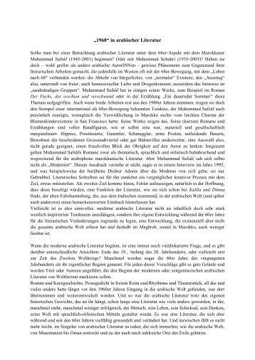 """""""1968"""" in arabischer Literatur - Dr. Hartmut Fähndrich"""