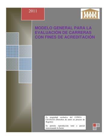 Modelo General Evaluación Carreras - Universidad Técnica de ...