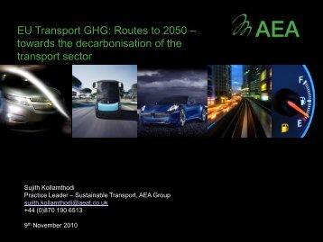 EU Transport GHG: Routes to 2050 – towards the ... - VIA3
