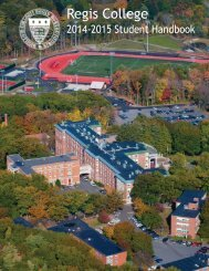 Regis College Student Handbook