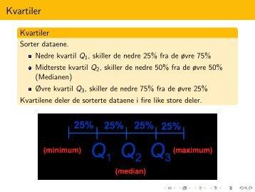Met 3431 Statistikk Forelesning 4 - Kapittel 3