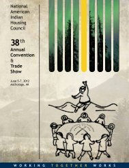 National American Indian Housing Council Annual Convention ...