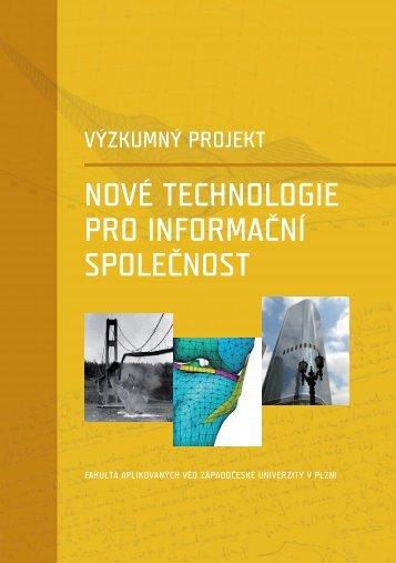 nové technologie pro informační společnost - Fakulta aplikovaných ...