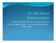 It's All About Relationships - the American Water Works Association ...