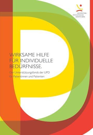 WIrkSAME HILfE für InDIvIDUELLE BEDürfnISSE. - UPD - Kanton Bern