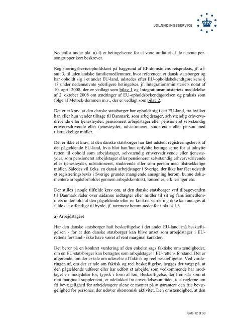 Meddelelse om Udlændingeservices ... - Ny i Danmark