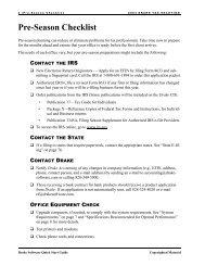 Pre-Season Checklist - Drake Software